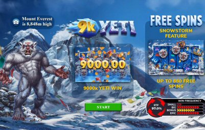 9k Yeti Video Slot Review By Yggdrasil