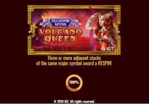Volcano Queen: Diamond Spins Video Slot Review By IGT