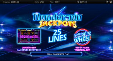 Thunderspin Jackpots Video Slot Review By NextGen