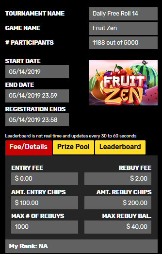 Daily Freeroll At Drake Casino