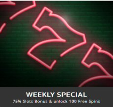 WEEKLY SPECIAL At Casino Max Mobile