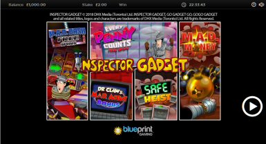 Inspector Gadget Video Slot Review By Blueprint