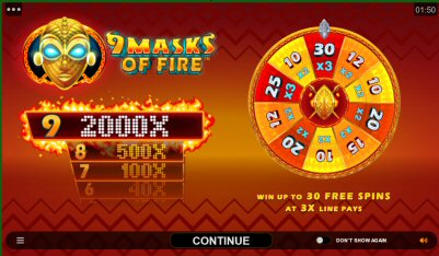 9 Masks of Fire Video Slot Review By Microgaming