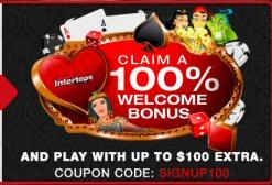 Welcome Bonus At Intertops Mobile Casino